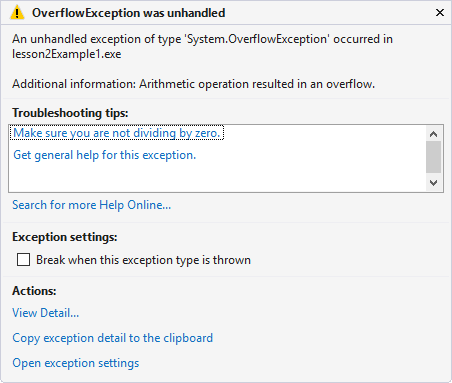 overflow-exception